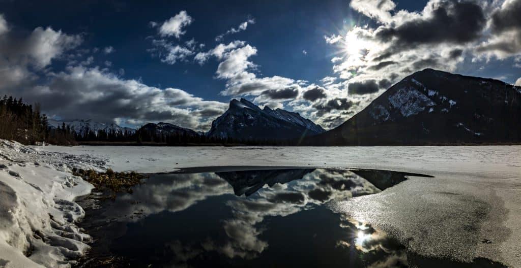 Vermillion Lakes reflection
