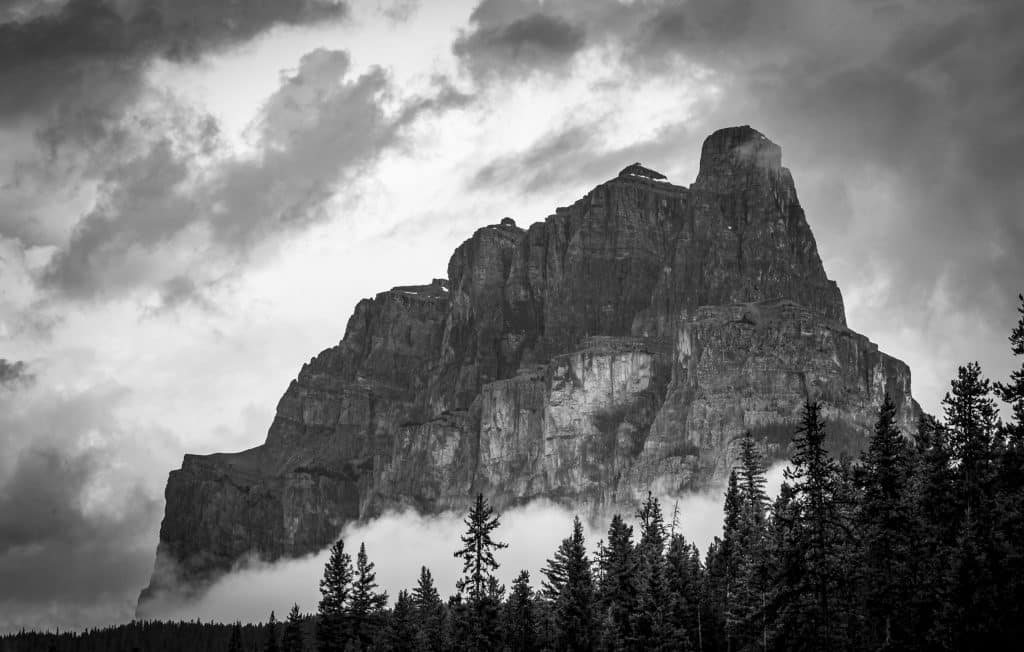 Black and white Castle mountain 2