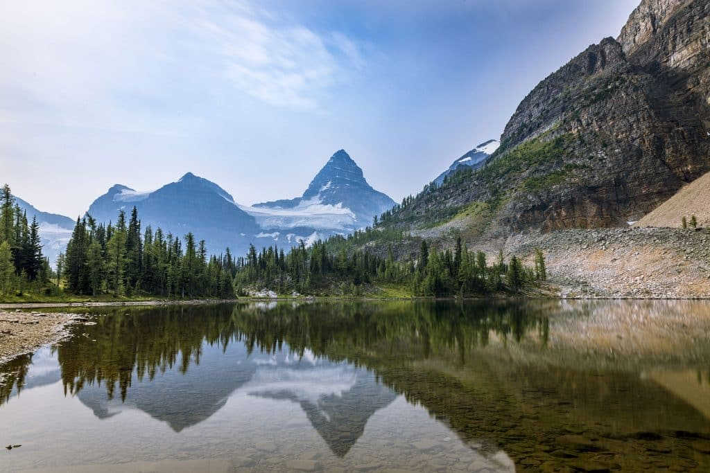 Sunburst Lake with Mount Assiniboine