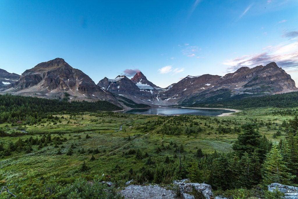 Mount Assiniboine range sun rise